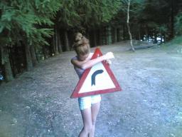 Cristina - curba periculoasa la dreapta